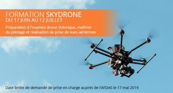 formation audiovisuelle drone examen pilotage